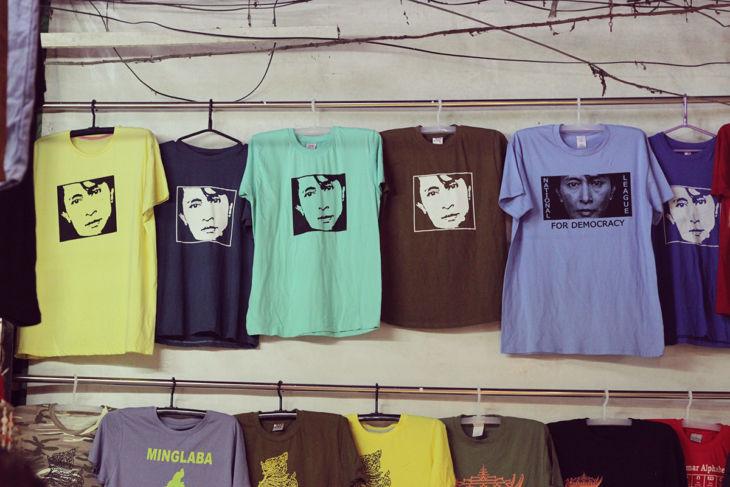 ボージョーアウンサンマーケットのTシャツ2