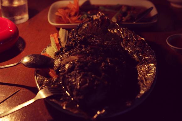 ミャンマーのビアガーデン料理1